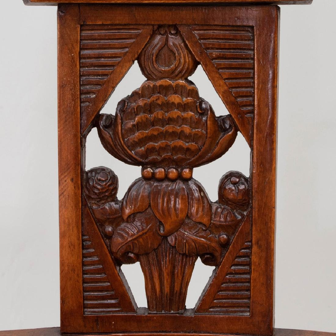 Set of Six Biedermeier Style Stained Fruitwood and - 3