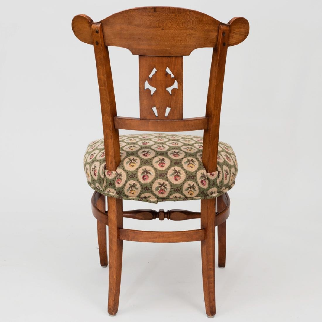 Set of Six Biedermeier Style Stained Fruitwood and - 5