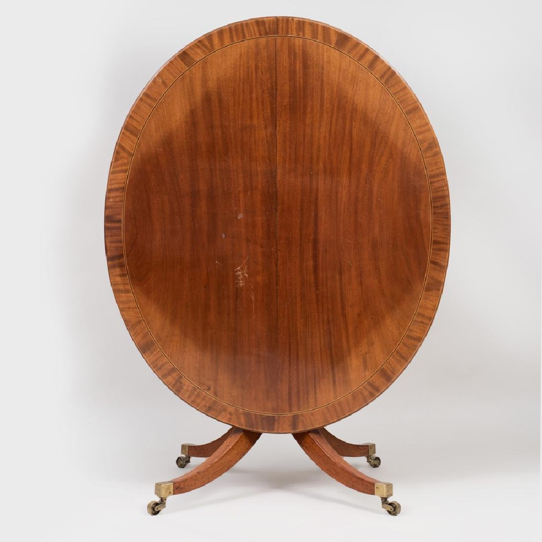 Regency Style Mahogany, Ebony and Boxwood Strung