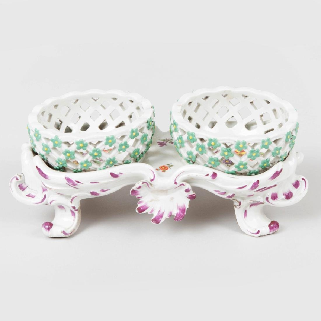 Vienna Porcelain Two Basket Sweetmeat Stand - 2