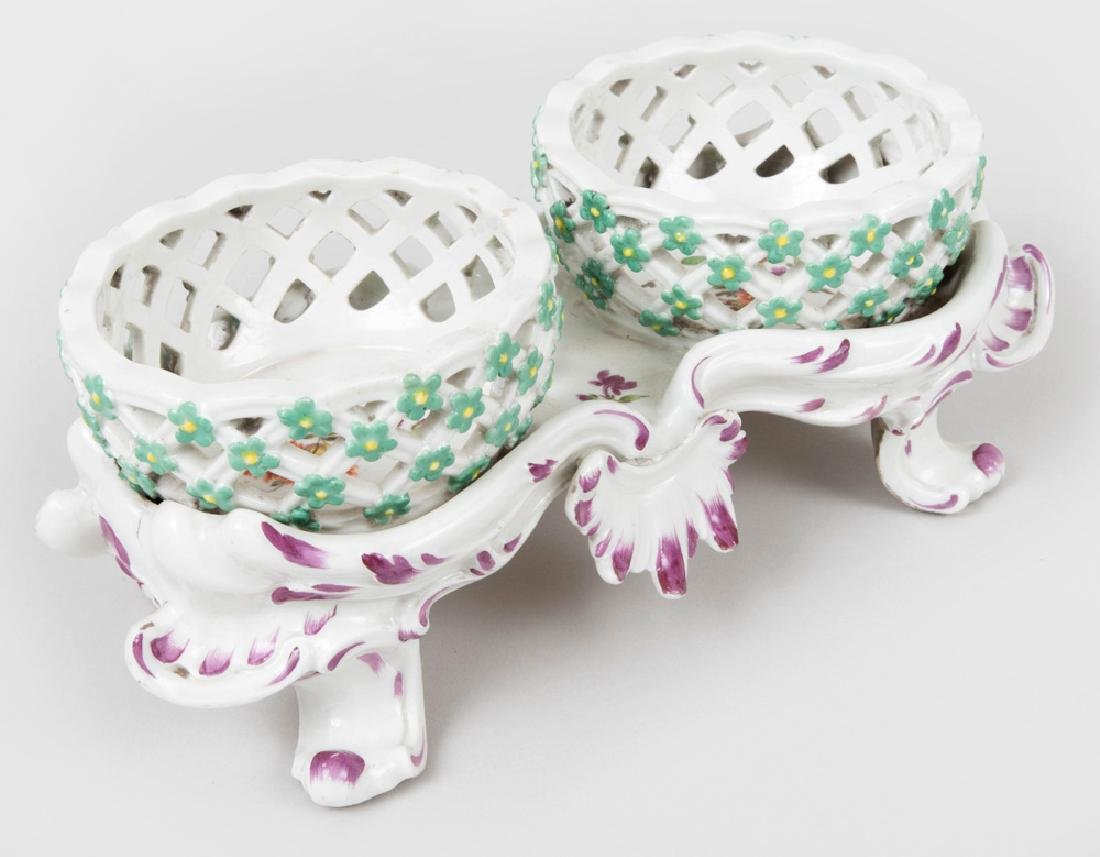 Vienna Porcelain Two Basket Sweetmeat Stand - 4