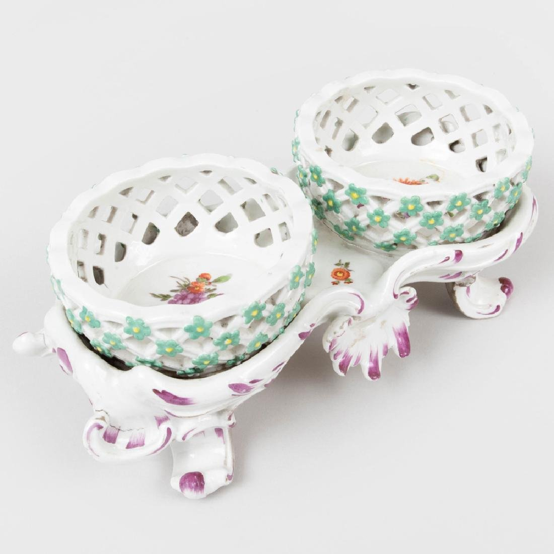 Vienna Porcelain Two Basket Sweetmeat Stand - 5