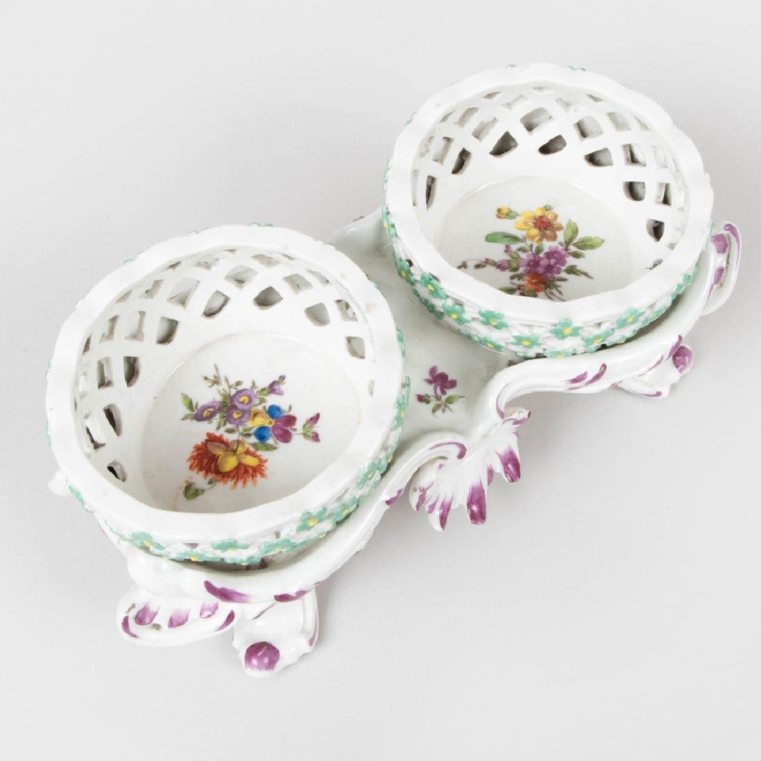 Vienna Porcelain Two Basket Sweetmeat Stand - 6