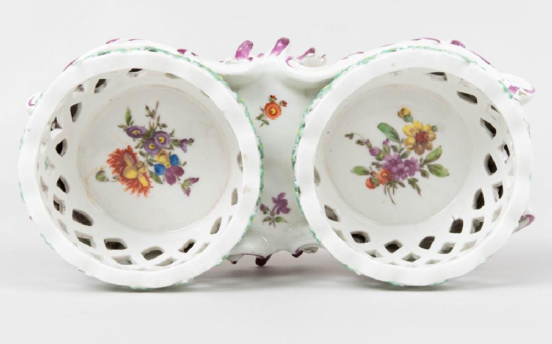Vienna Porcelain Two Basket Sweetmeat Stand - 7
