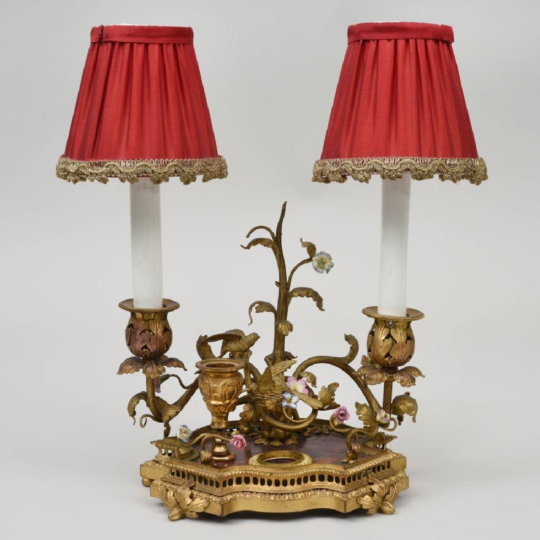 Louis XV Style Gilt-Bronze-Mounted Porcelain Encrier,