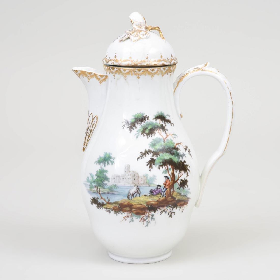 Royal Copenhagen Porcelain Coffee Pot and Cover - 2