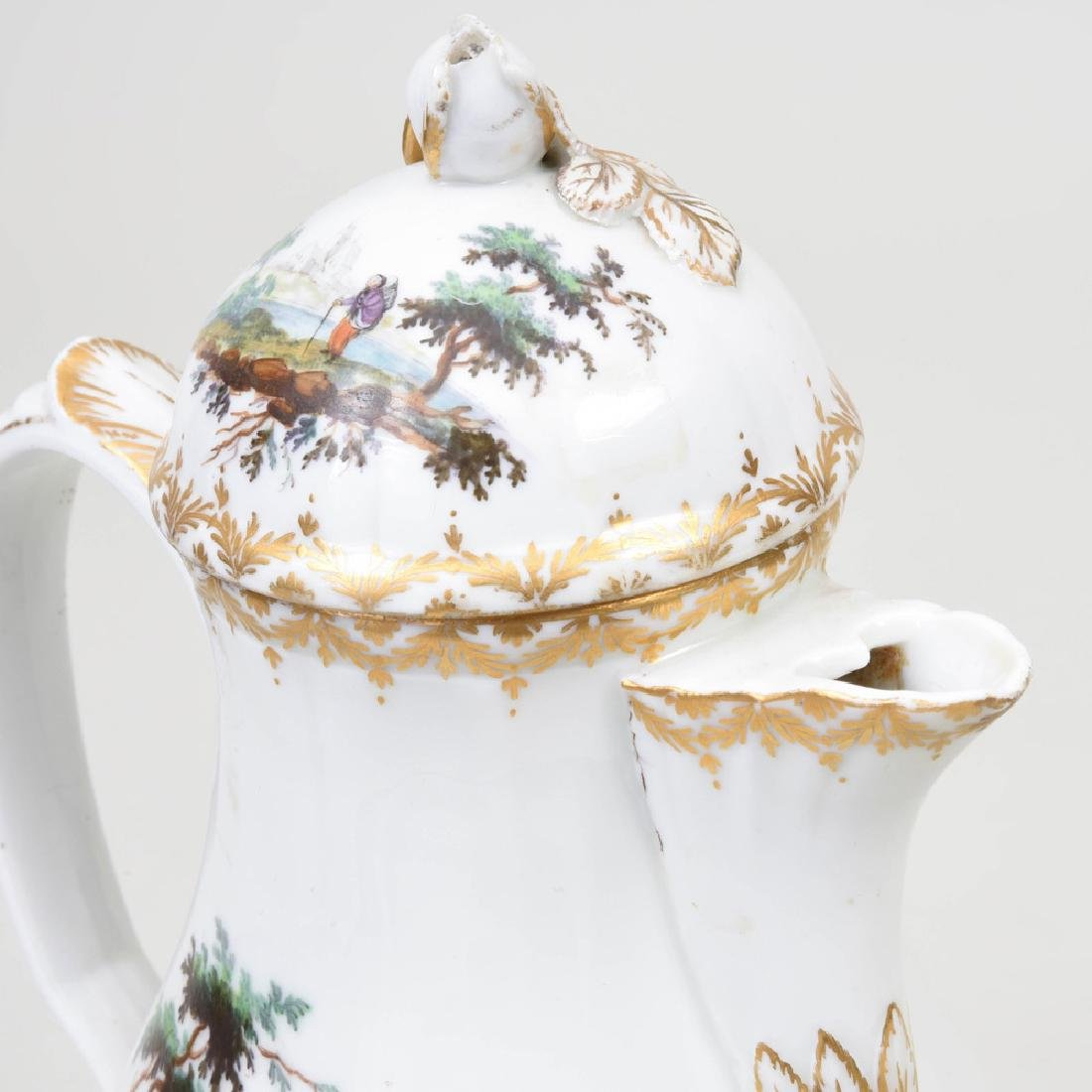 Royal Copenhagen Porcelain Coffee Pot and Cover - 4
