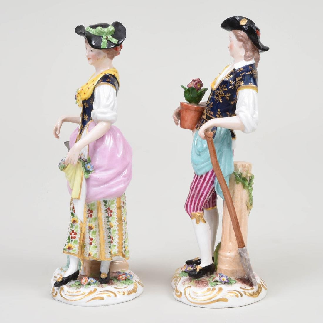 Derby Porcelain Figure of a Gardner and Companion - 2