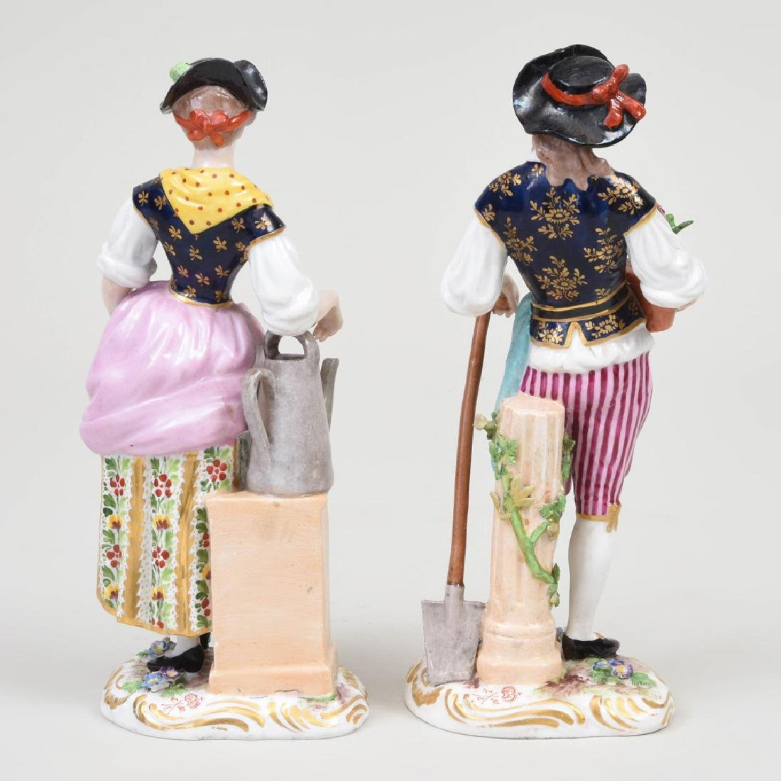 Derby Porcelain Figure of a Gardner and Companion - 3