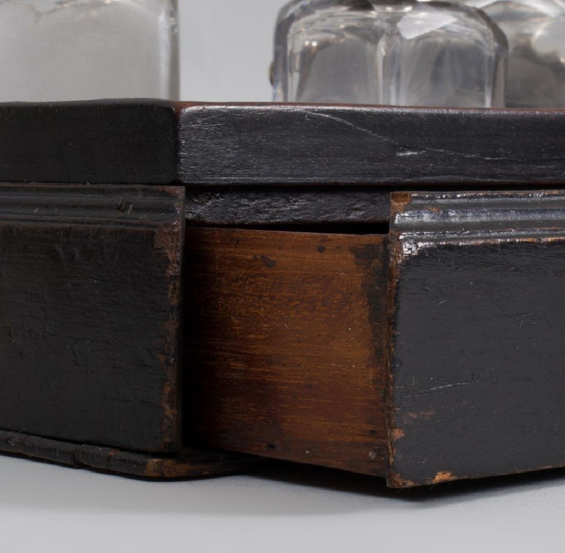 George III Black Stained Mahogany Ink Stand - 5