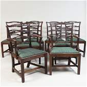 Set of Eight George III Mahogany Dining Chairs