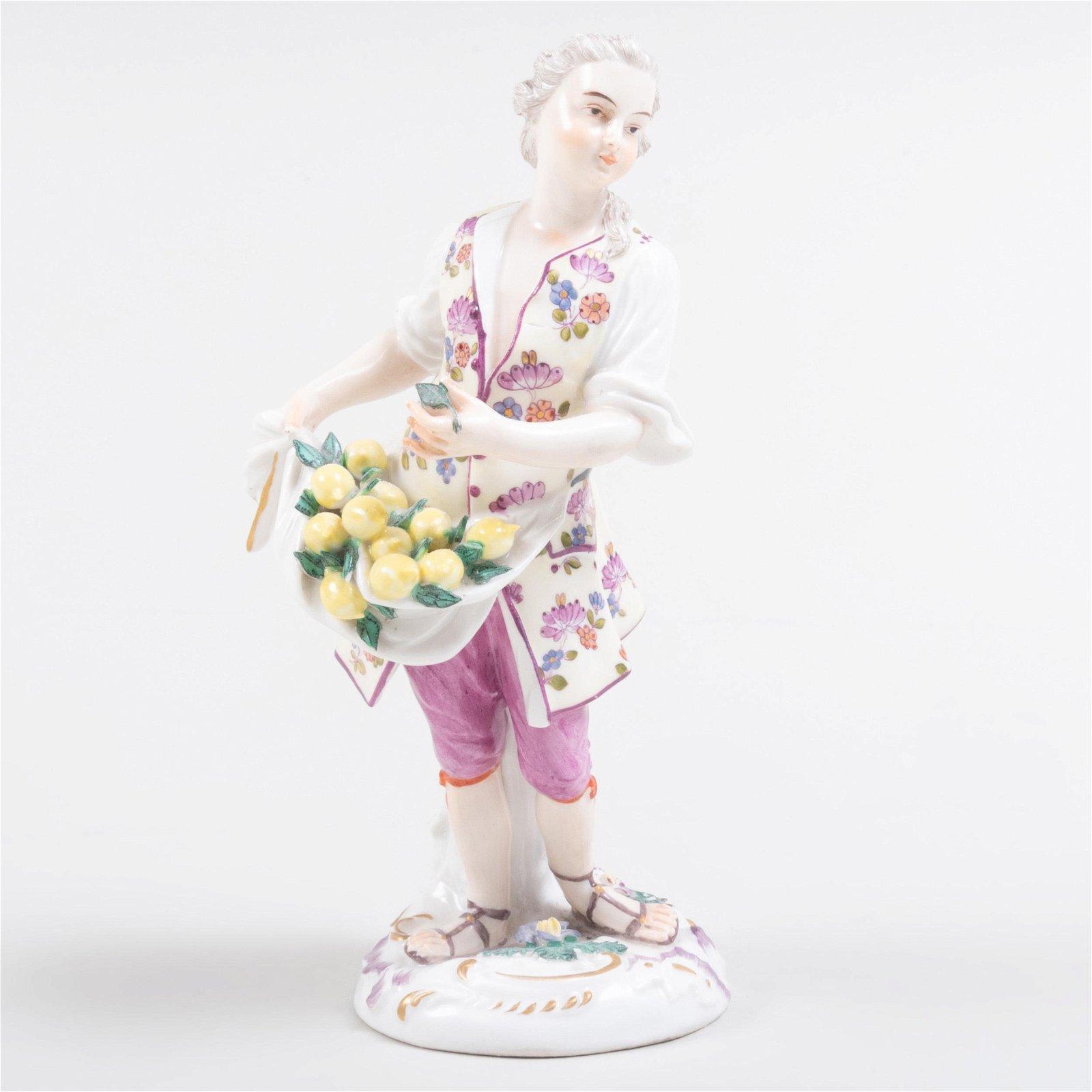 Continental Porcelain Figure of a Lemon Seller