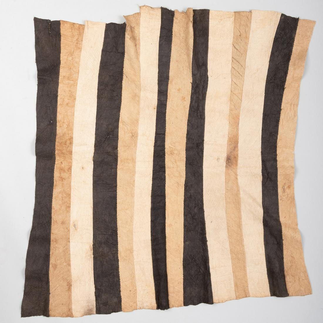 Three Mbuti Pygmy Bark Cloths, Ituri Rain Forest,