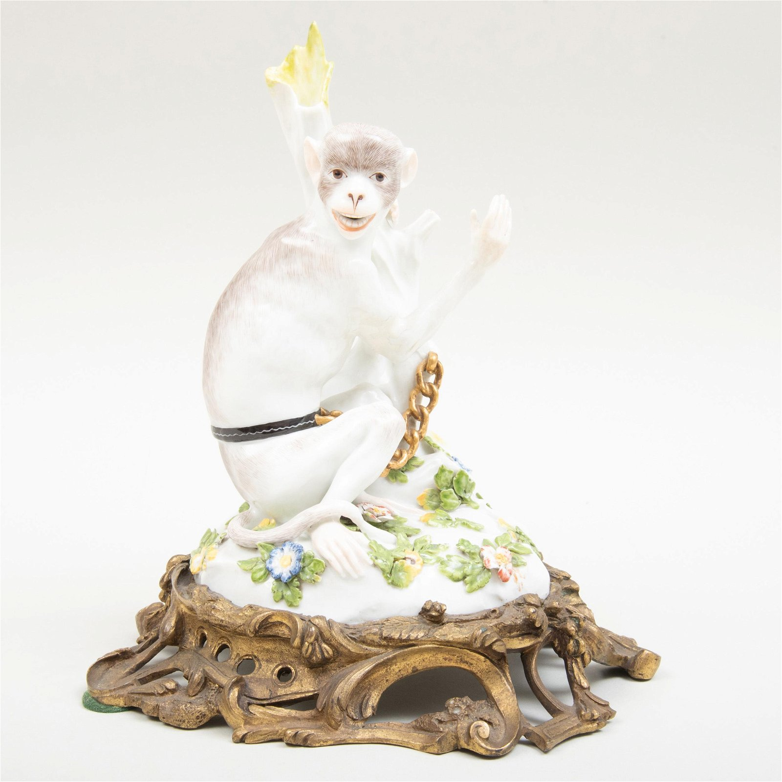 Samson Porcelain Louis XV Style Ormolu-Mounted Figure