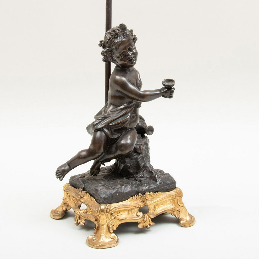 Louis XV Style Ormolu-Mounted-Bronze Putti Mounted as a