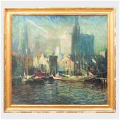 Arthur Clifton Goodwin (1864-1929): Boston Waterfront