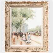 André Gisson (1928-2003): Paris Street Scene