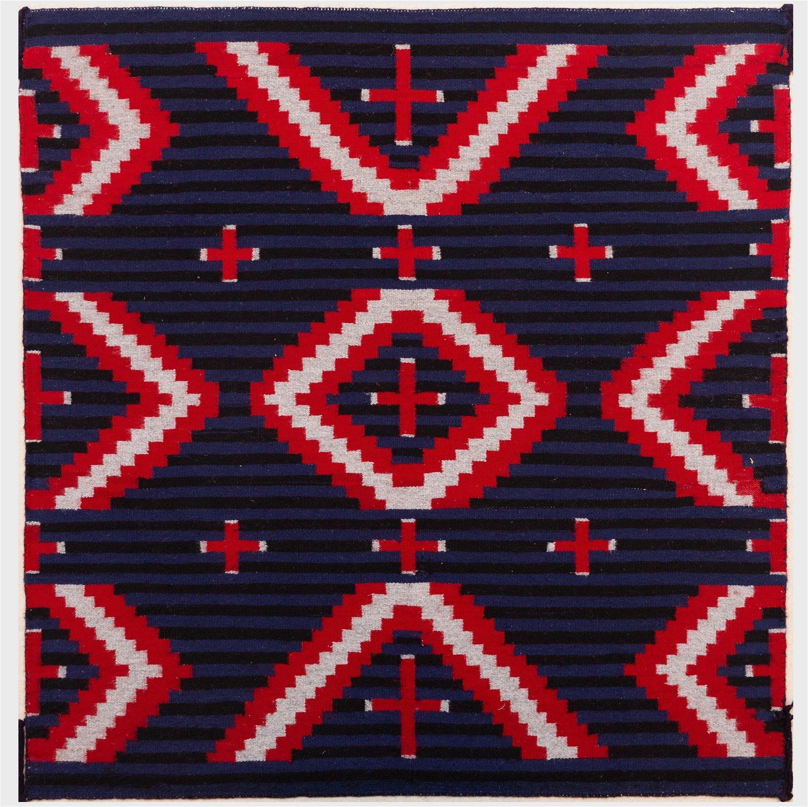 Navajo Moki Polychrome Woven Blanket