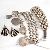Miscellaneous Group of Silver Jewelry