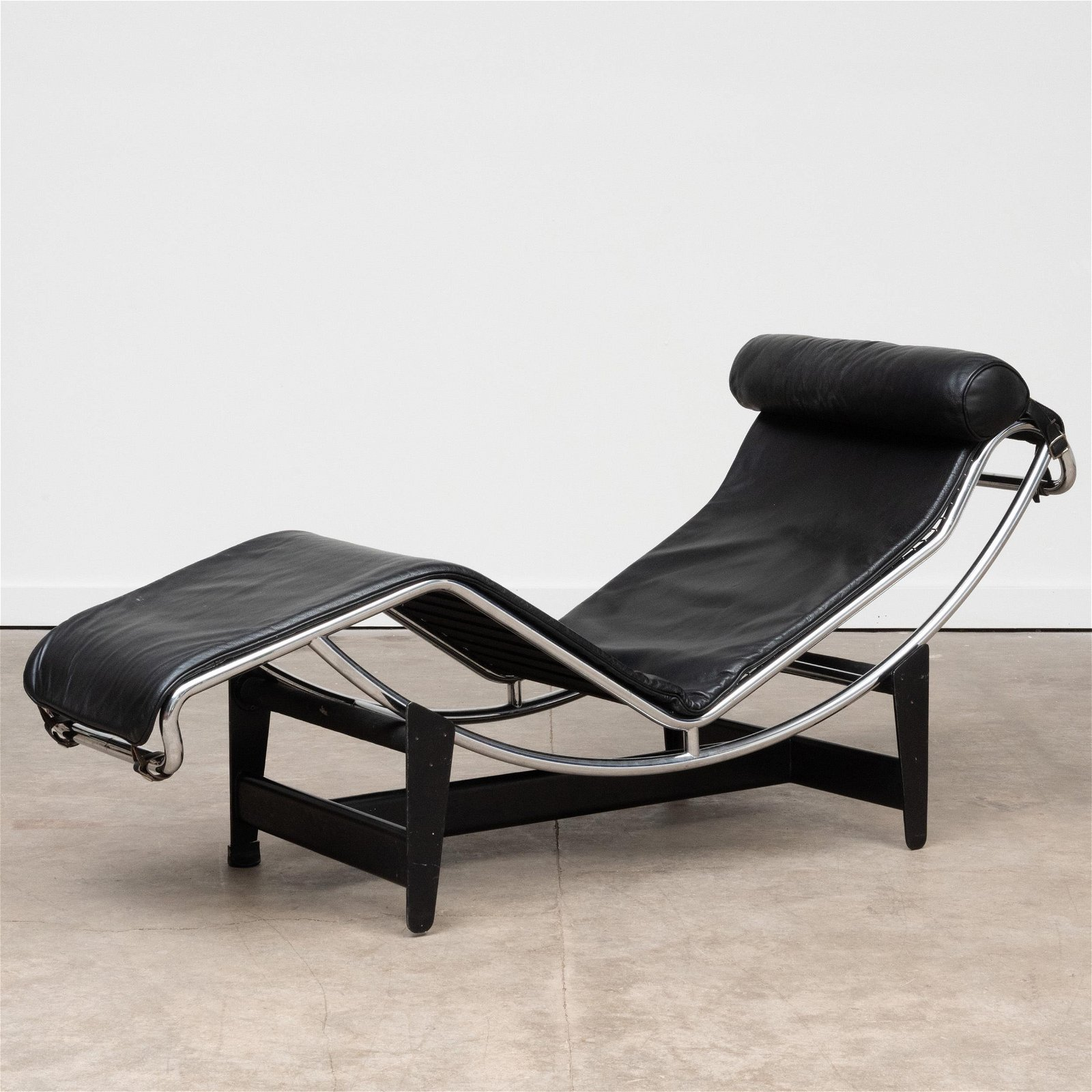 Le Corbusier Chrome and Leather 'LC4' Lounge Chair, for