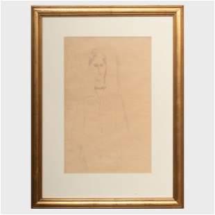 Attributed to Amedeo Modigliani (1884-1920): Portrait