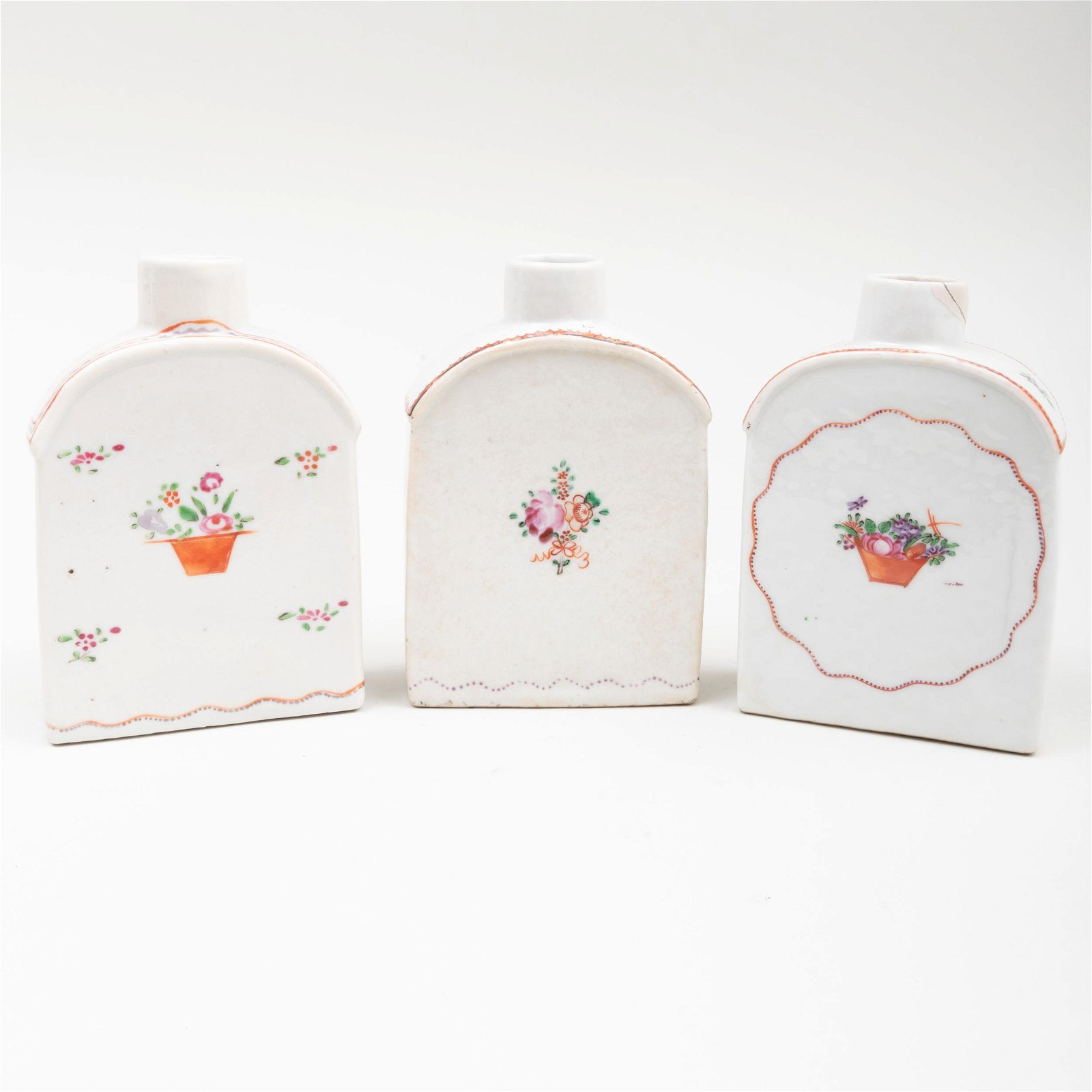Group of Three Chinese Export Famille Rose Porcelain