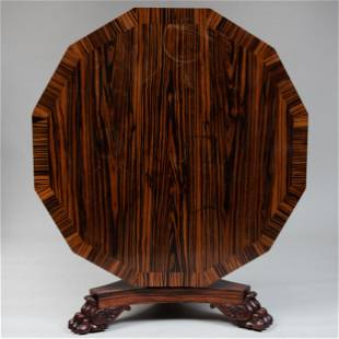 William IV Zebrawood and Parcel-Gilt Dodecagon Center