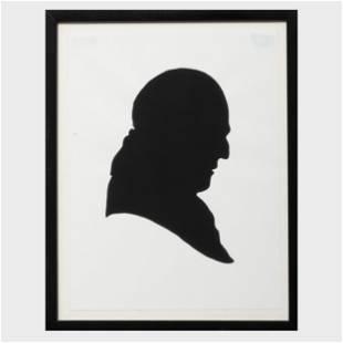 Elliott Puckette (b. 1967): Profile Silhouette of John