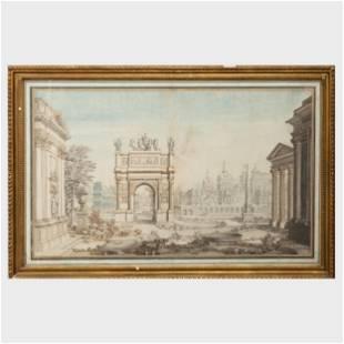 Continental School: Roman Ruins