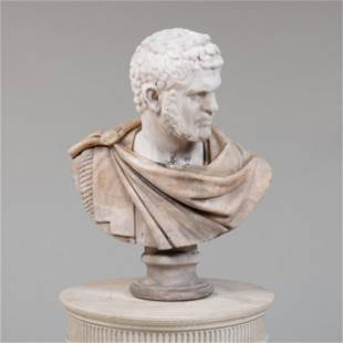 Italian Marble and Onyx Bust of Emperor Caracalla