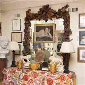 William and Mary Style Carved Wood Mirror, After