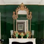 Fine R�gence Giltwood Mirror