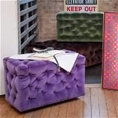 Mertalia Velvet Tufted 'La Michetta' Modular Sofa