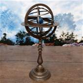 Metal and Brass Armillary Sphere