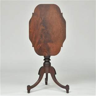 Federal Mahogany Tilt-Top Candle Stand, Possibly Albany