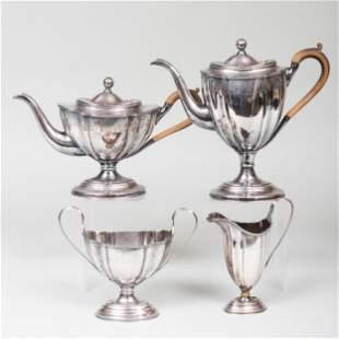 Silver Plate Silver Four-Piece Tea and Coffee Service
