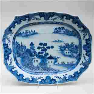 Chinese Export Blue and White Porcelain Platter
