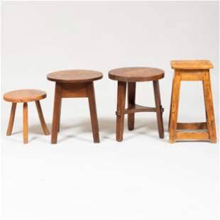 Collection of Four Stools