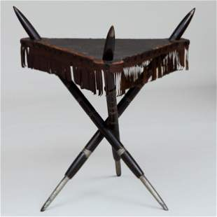 Painted and Leather Table from the Native American Room