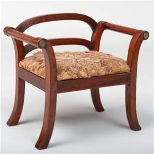 Rare Federal Gilt-Metal-Mounted Mahogany Child's Chair,