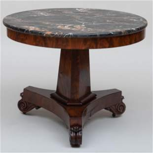 Late Federal Carved Mahogany Center Table, Boston