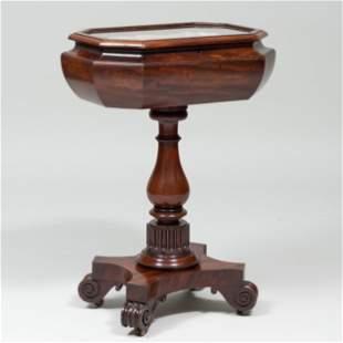 Victorian Mahogany Vitrine Table with Sailor's
