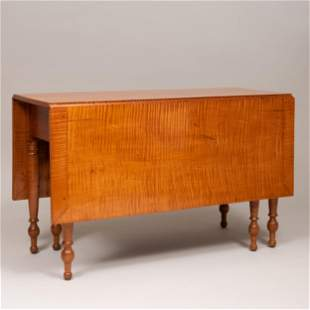 Federal Tiger Maple Drop Leaf Table, New England