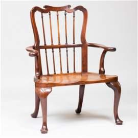 Fine and Unusual George II Mahogany Windsor Armchair