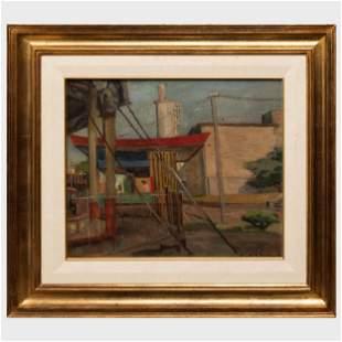 Carmelo de Arzadun (1888-1968): City Scene