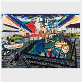 Margules de Hirsh (1899-1965): Port Scene
