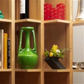 Henry Tooth Green Glazed Vase for Bretby