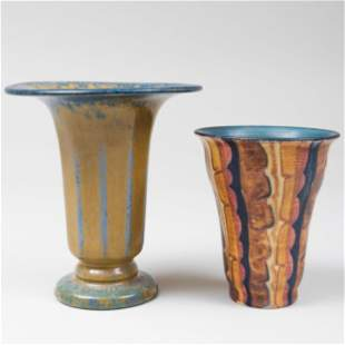 Two Rookwood Pottery Glazed Flaring Vases