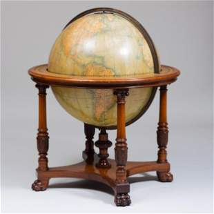 Large William IV Style Mahogany 30 Inch Terrestrial