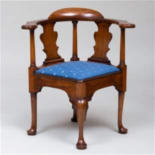 George III Mahogany Corner Chair